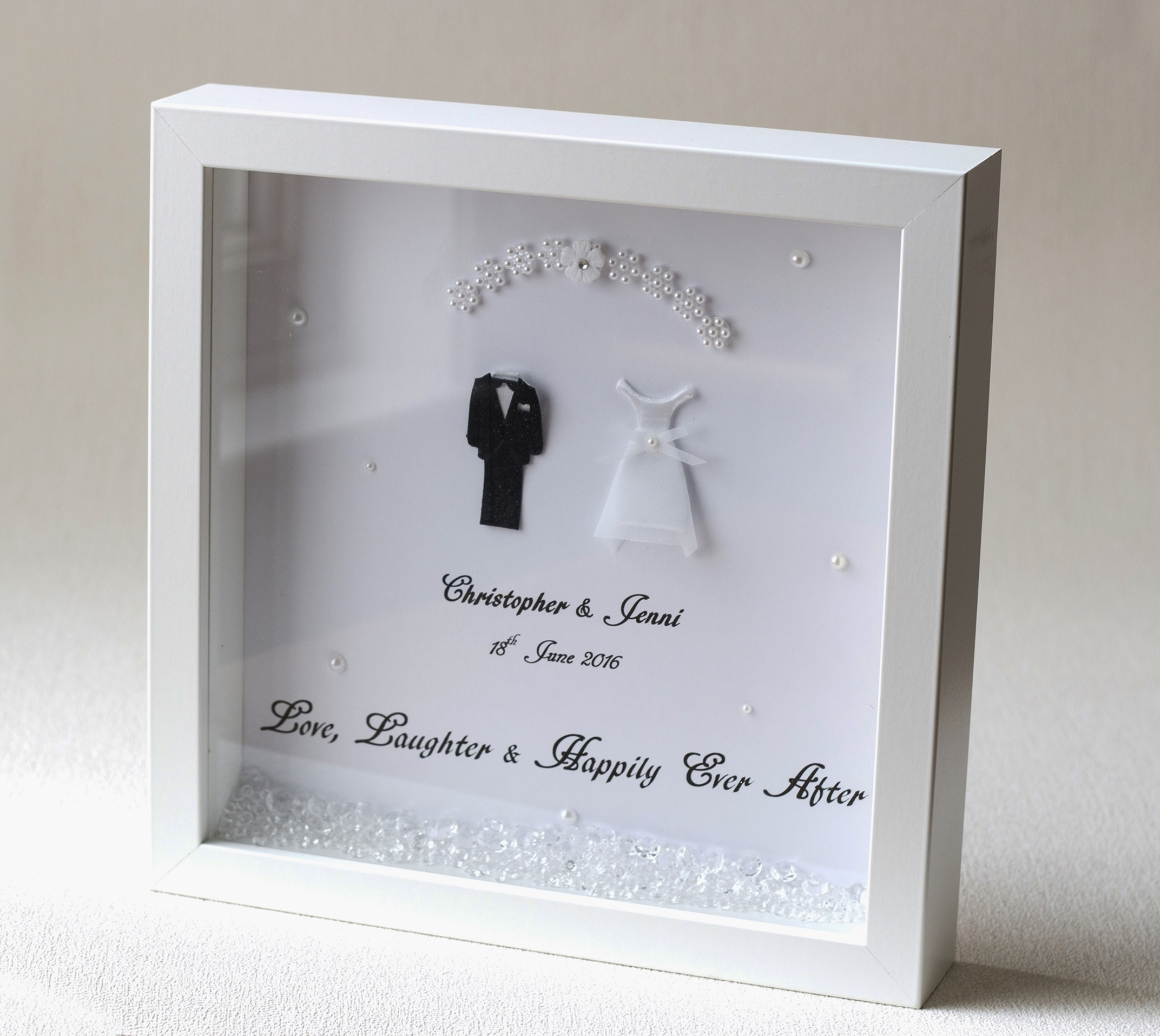 A Personalised Wedding Gift Frame Souled In Love